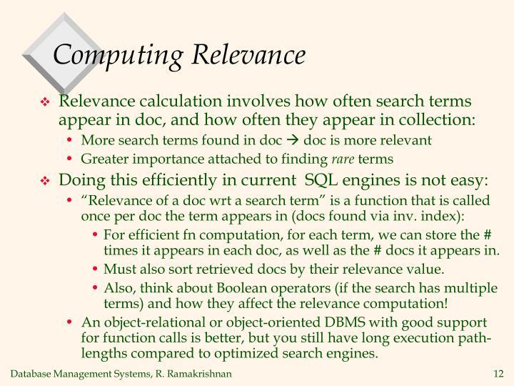 Computing Relevance