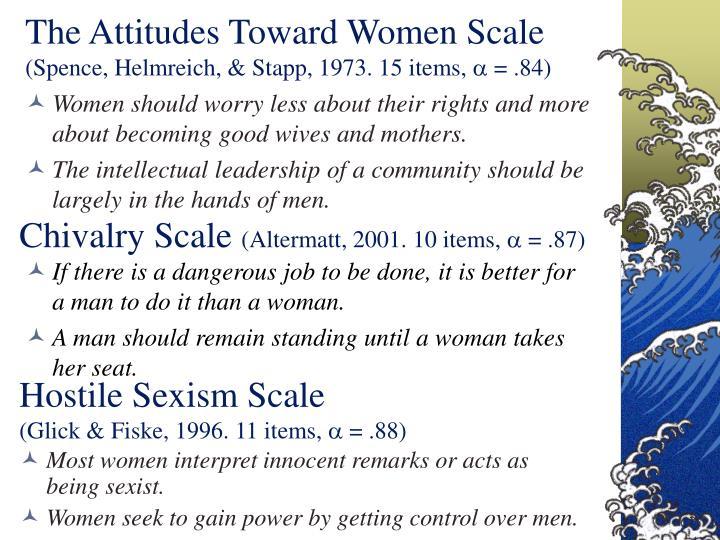 The Attitudes Toward Women Scale