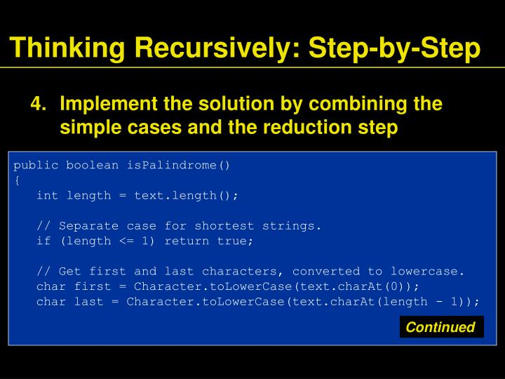 Thinking Recursively: Step-by-Step