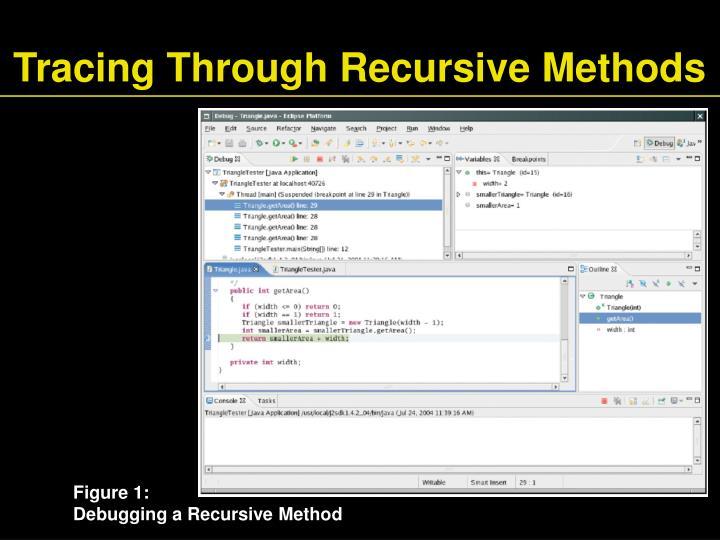 Tracing Through Recursive Methods