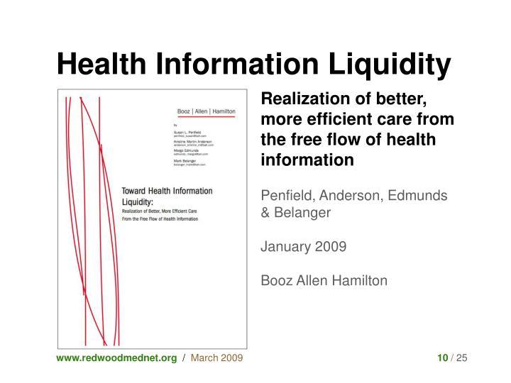 Health Information Liquidity