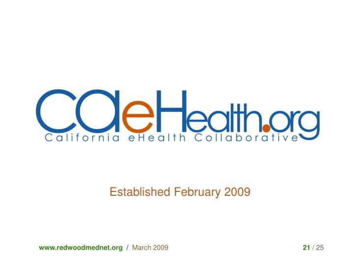 Established February 2009