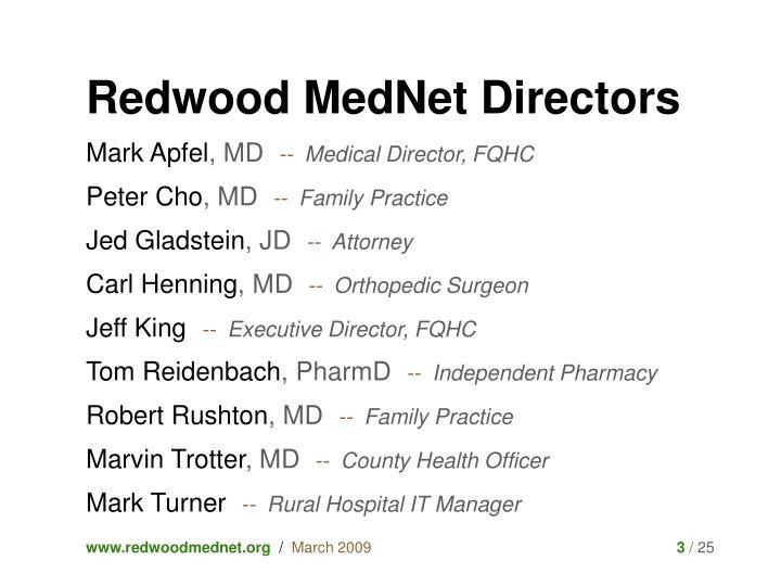 Redwood MedNet Directors