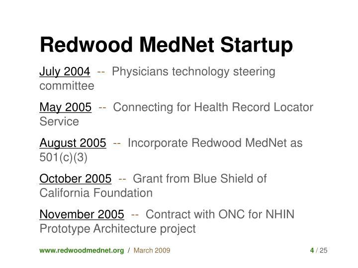 Redwood MedNet Startup