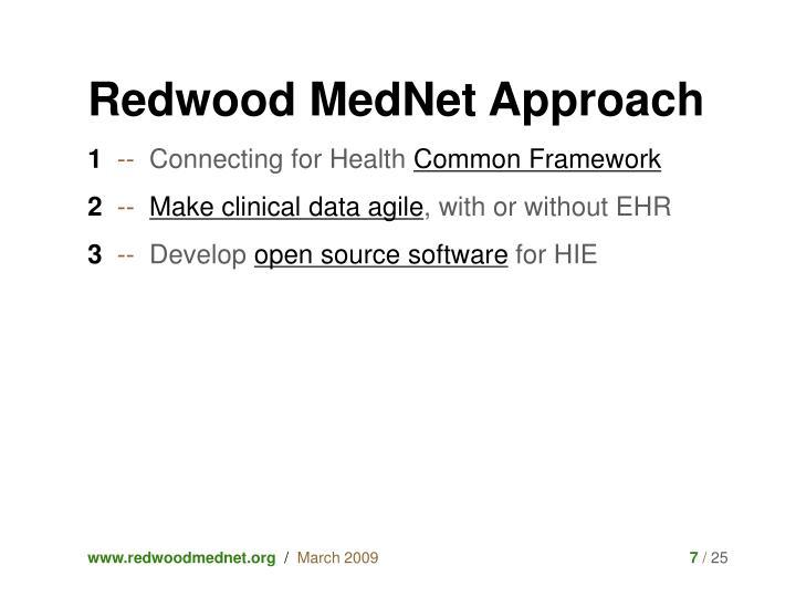 Redwood MedNet Approach