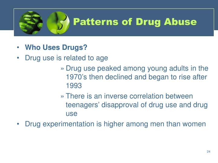 Patterns of Drug Abuse