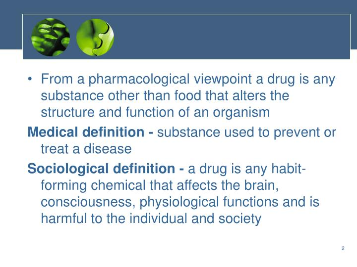 From a pharmacological