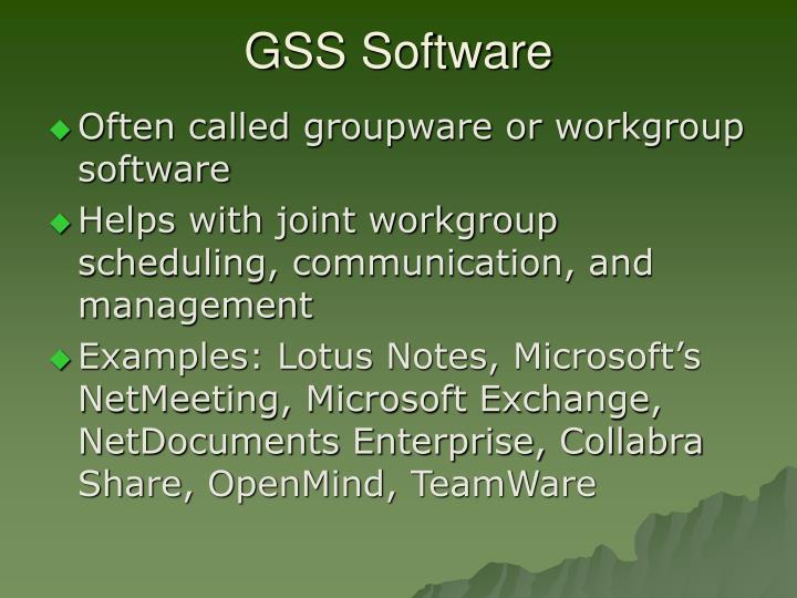 GSS Software