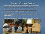 project clarion goals