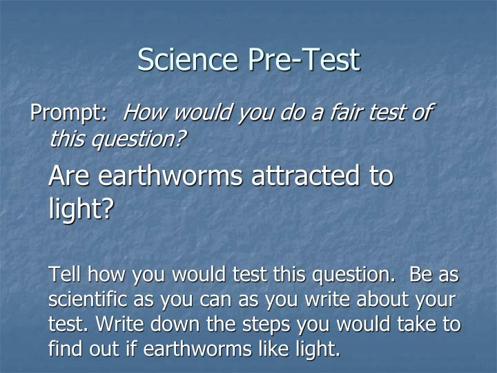 Science Pre-Test
