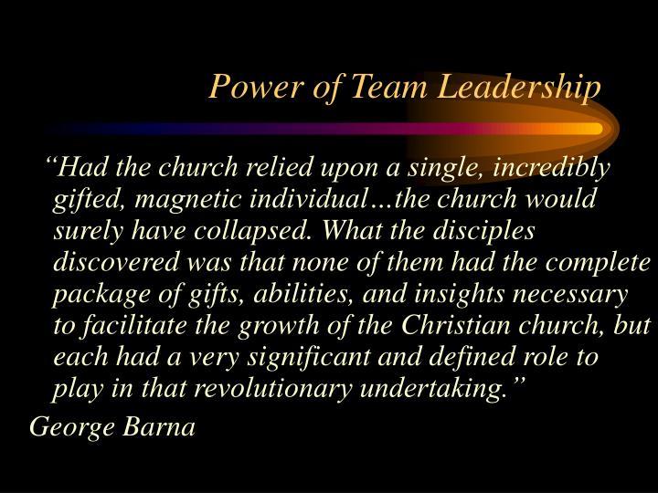 Power of Team Leadership
