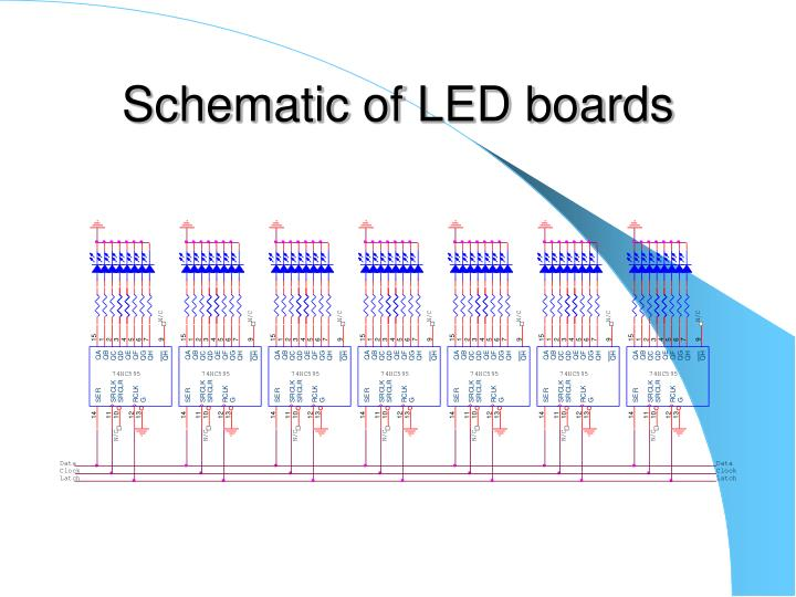 Schematic of LED boards
