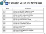 full list of documents for release6