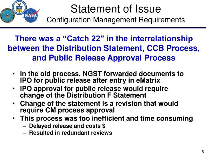 Statement of Issue