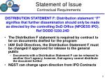 statement of issue contractual requirements