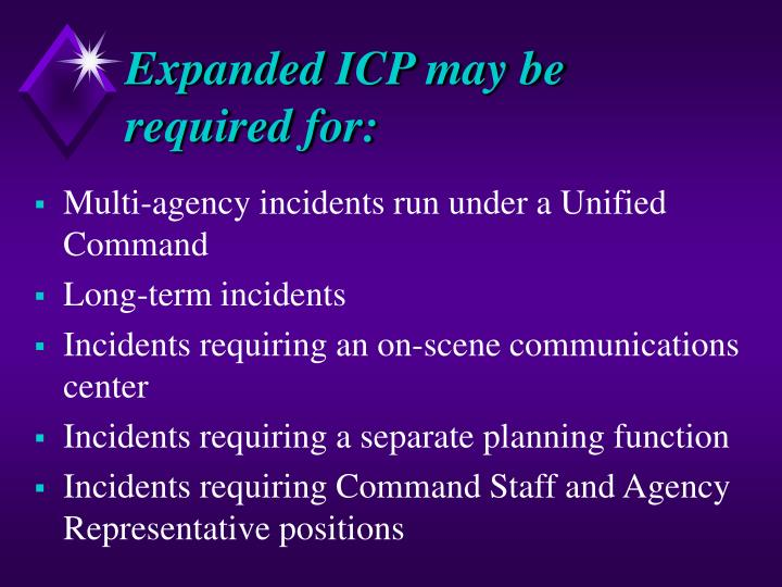 Expanded ICP may be required for: