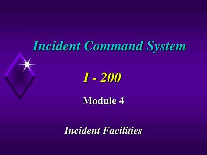 incident command system i 200