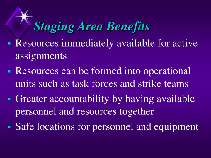 Staging Area Benefits