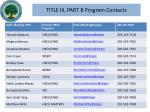 title iii part b program contacts