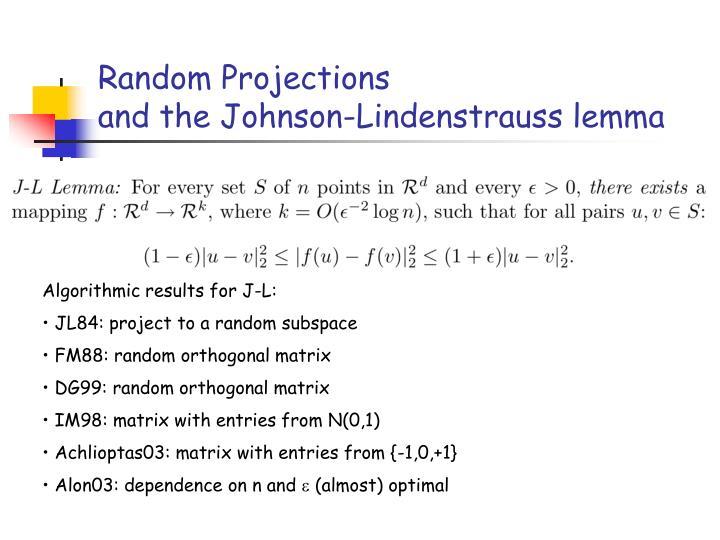 Random Projections