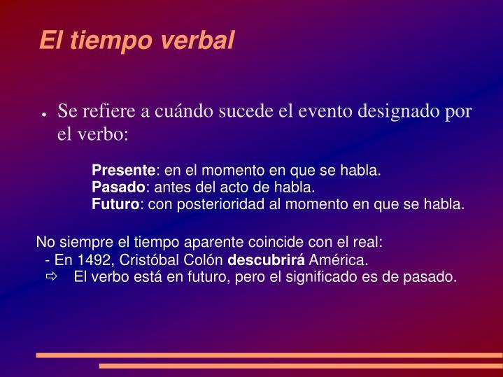 El tiempo verbal