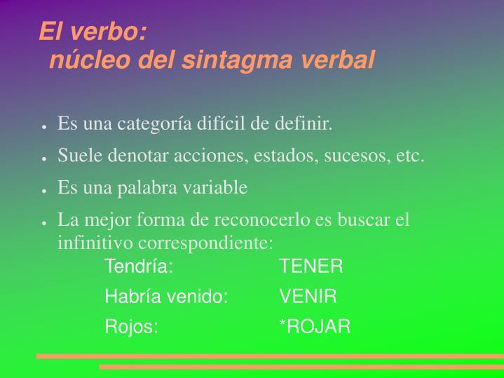 El verbo: