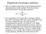 empirical covariance matrices