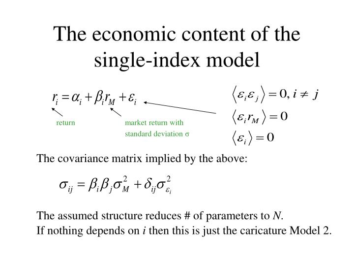 The economic content of the single-index model