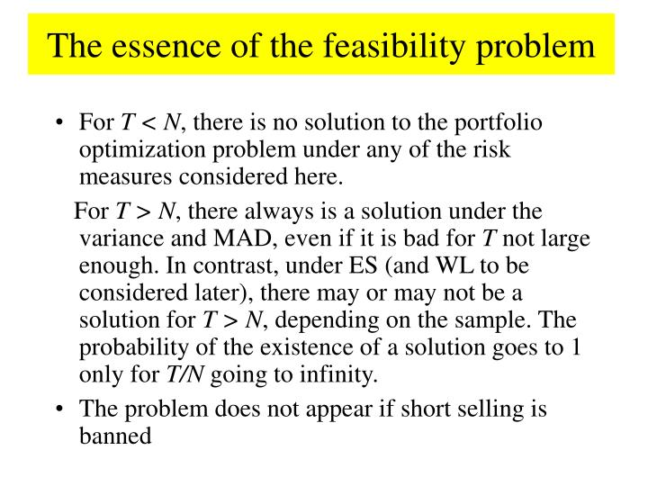 The essence of the feasibility problem