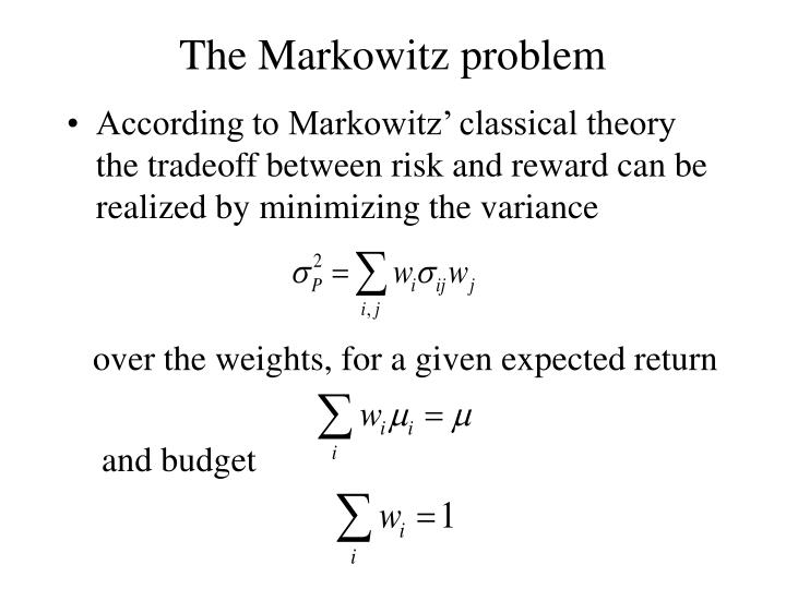 The Markowitz problem