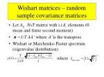 wishart matrices random sample covariance matrices