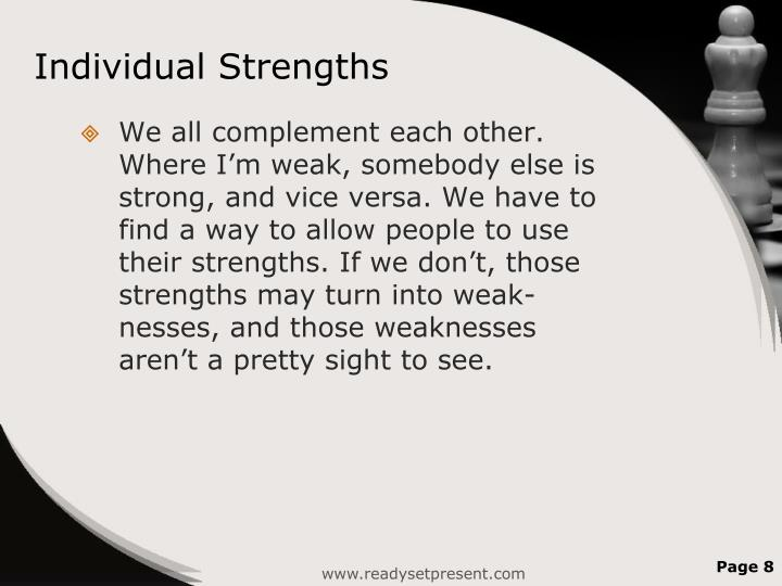 Individual Strengths