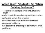 what must students do when solving problems