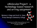 emolecules project a technology based research and writing assignment