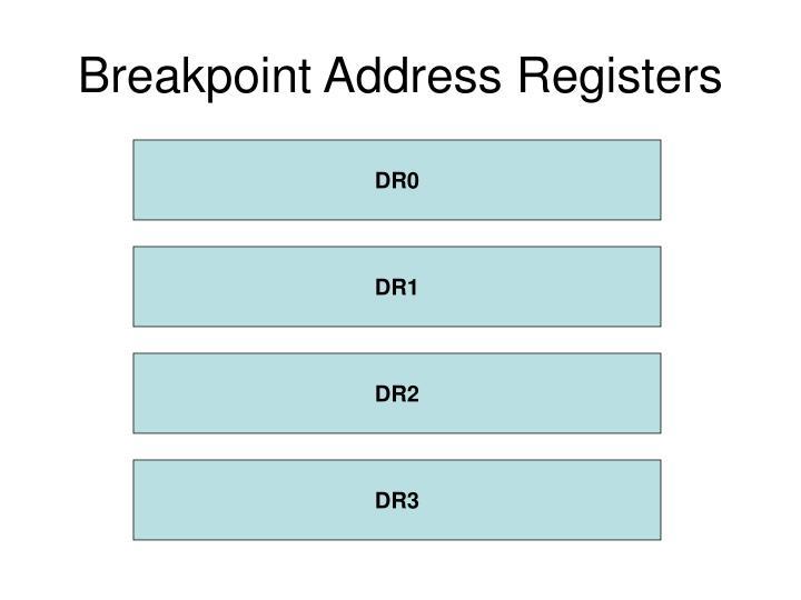 Breakpoint Address Registers