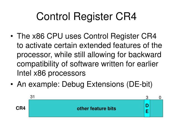 Control Register CR4