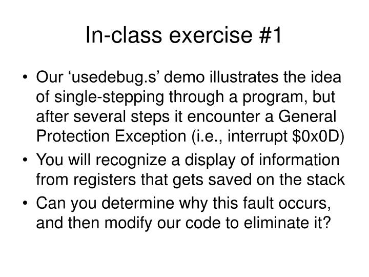 In-class exercise #1