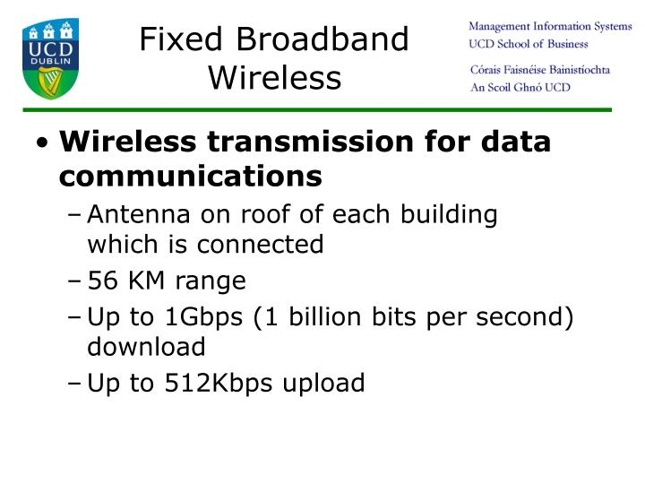 Fixed Broadband Wireless
