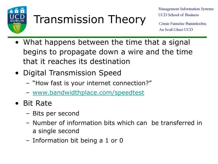 Transmission Theory
