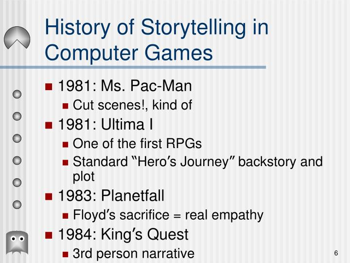 History of Storytelling in Computer Games