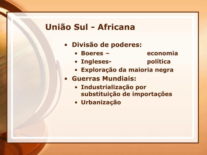 União Sul - Africana