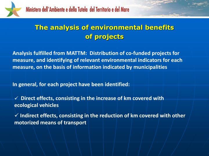 The analysis of environmental benefits