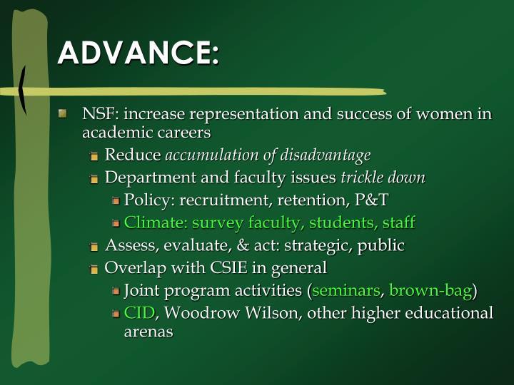 ADVANCE:
