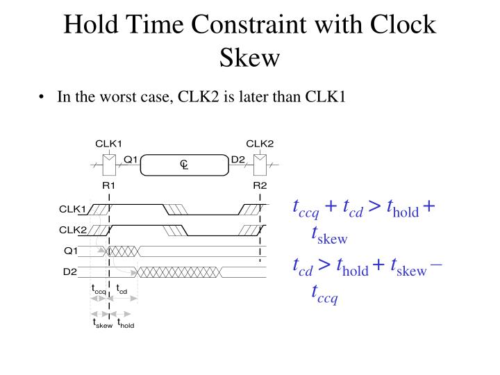 Hold Time Constraint with Clock Skew