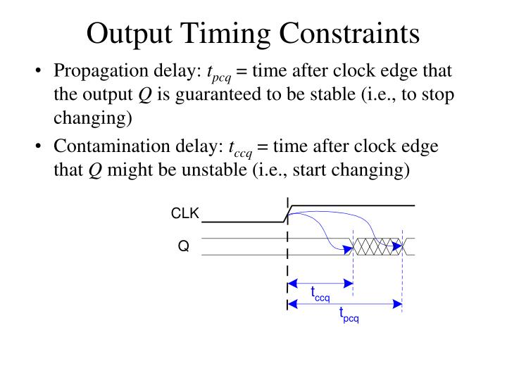 Output Timing Constraints