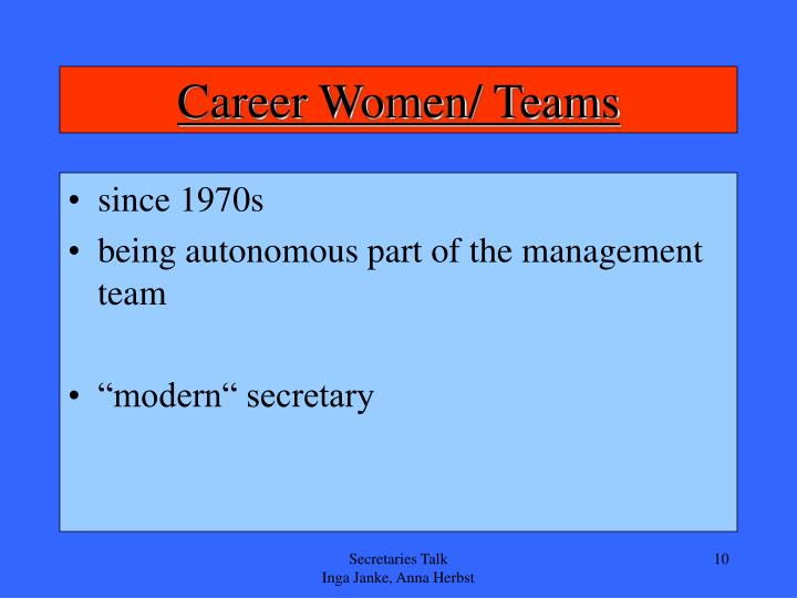 Career Women/ Teams