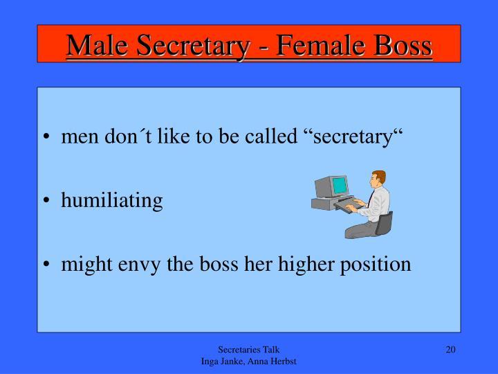 Male Secretary - Female Boss