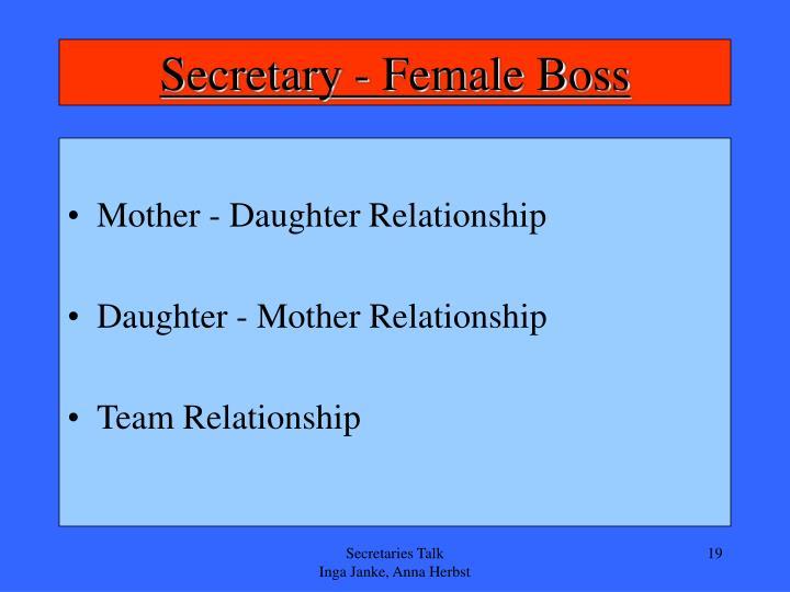 Secretary - Female Boss