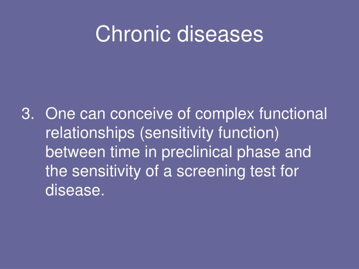 Chronic diseases1