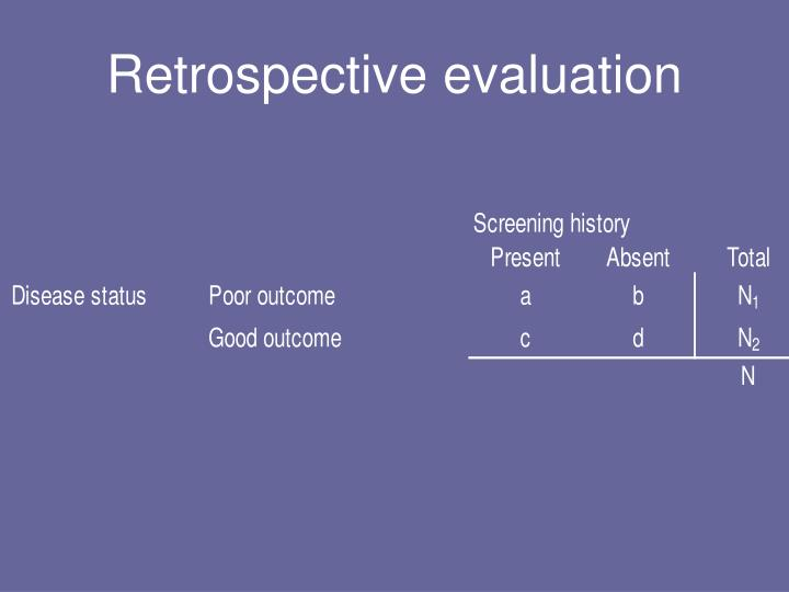 Retrospective evaluation